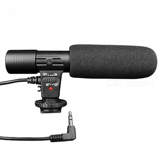 Mic 01 Shotgun Professional Studio/Stereo Recording 3.5mm Microphone/Microphone for CANON NIKON PENTAX Panasonic DSLR
