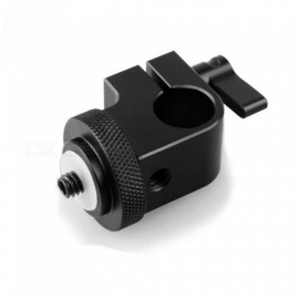 SmallRig DSLR Rig System 15mm Rod Clamp With 1/4 Thread Hole To Attach Camera Microphones/Sound Recorders Black