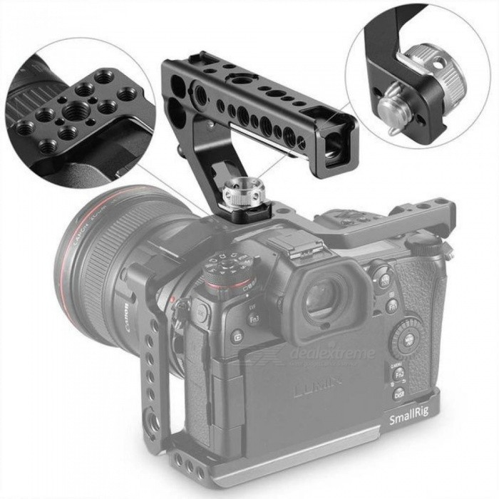 SmallRig Universal Arri Locating Top Handle Grip With 15MM Rod Clamp For DSLR Camera Cage Microphone Shoe Mount DIY