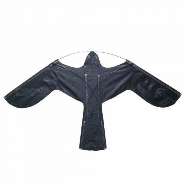 Hawk Kite Great As A Bird Scarer Scarecrow Performing Bird Control For Home and Garden-Black 120*66CM