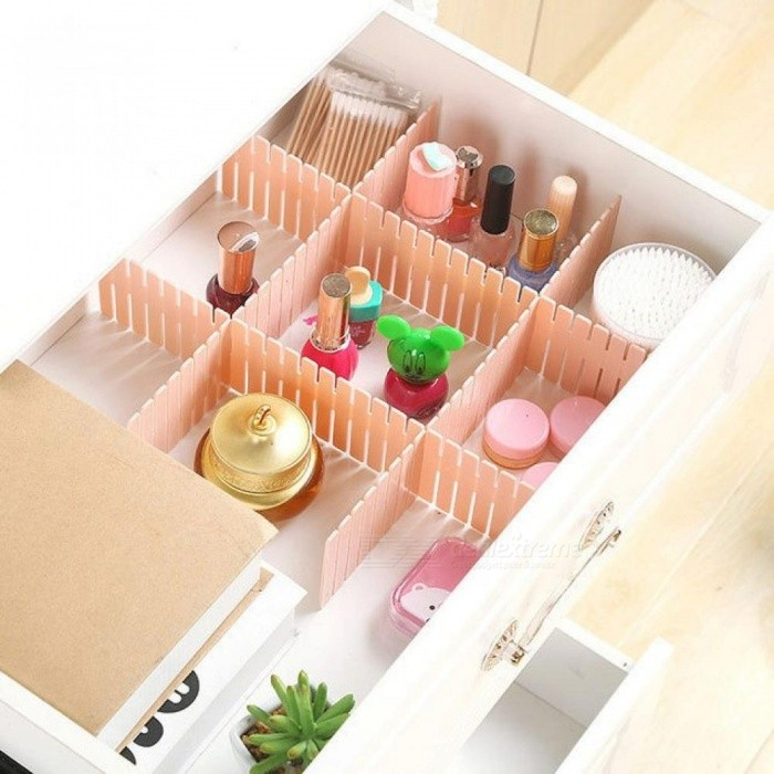 4PCS/Set Drawer Divider Household Storage Organizer Adjustable Drawer Partition Board Organizer for Socks Underwear