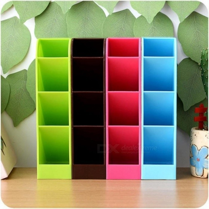 Plastic Organizer Storage Box Tie Bra Socks Drawer Cosmetic Divider Tidy Sundries Container Solid Color 4  Storage For Home