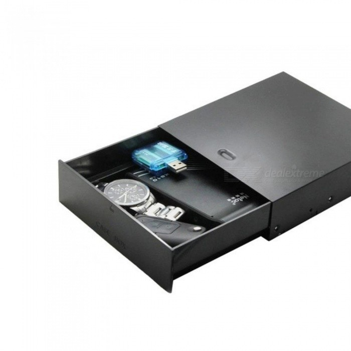 Black 523 Floppy Drives 5.25-Inch Metal Shell Computer Chassis CD-ROM Drive Drawer Storage Box Cabinet Cigarette Storage Box