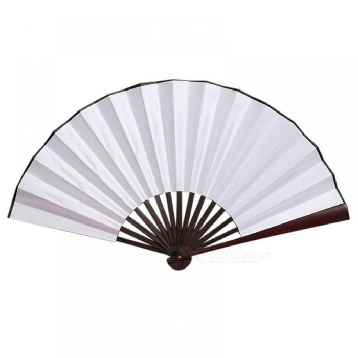 Folding Hand Fan Men's Black Bamboo Spun Silk Calligraphy Painting Writing Dancing Chinese Held Fans Wedding Party Favor