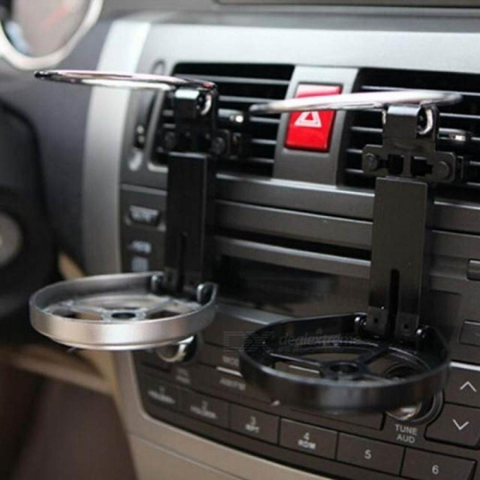 Plastic Material Car Air Outlet Beverage Cup Support, Folding Adjustable Drink Bottle Holder With Cooling Fan
