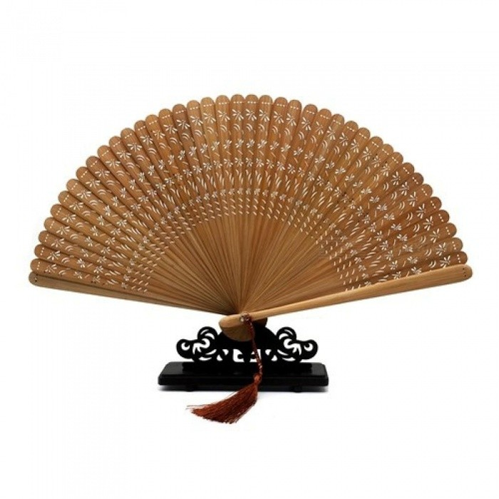 Dragonfly Pattern Folding Bamboo Fan Folding Hollow Carved Hand Fan Decoration Mariage Birthday Party