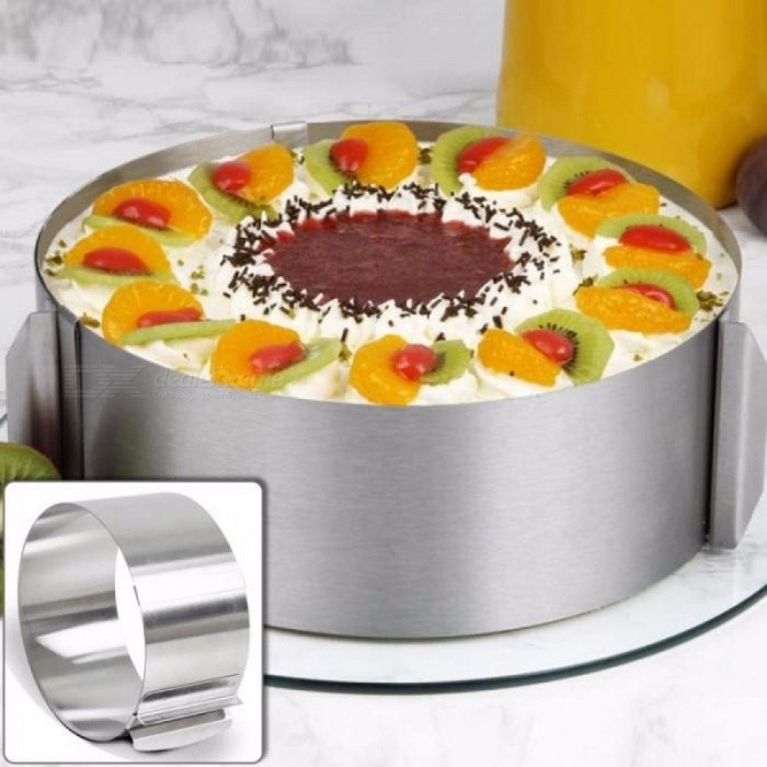 High Quality Retractable Stainless Steel Circle Mousse Ring Baking Tool Set Cake Mould Mold Size Adjustable Bakeware tools