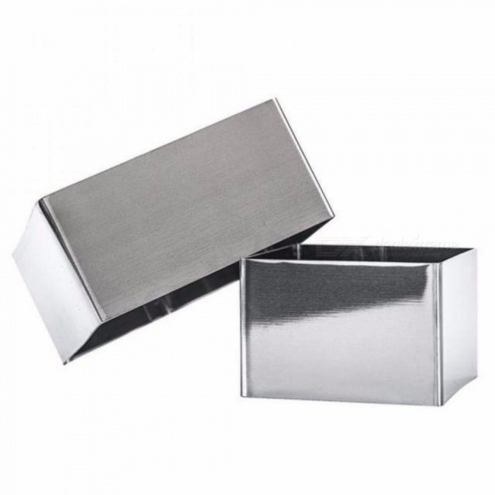 3PCS/Set Square Cutters Stainless Steel Cookies Cake Circle Cut Mould Mousse Ring Baking DIY Cake Mould