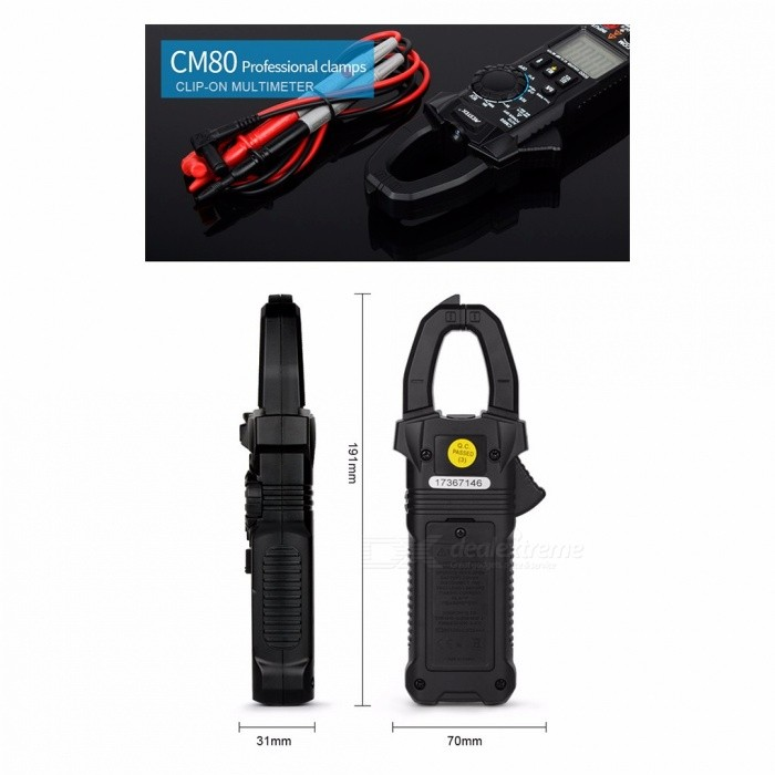 True RMS Digital Clamp Meter AC/DC Voltage AC Current Frequency Capacitance Multimeter NCV Test Megohmmeter