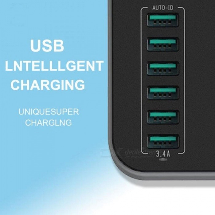 3 Gang Eu Smart USB Power Strip With 3.4A Charging Ports Multi Power Socket Europe PowerCube 1.6M Extension Cord With USB