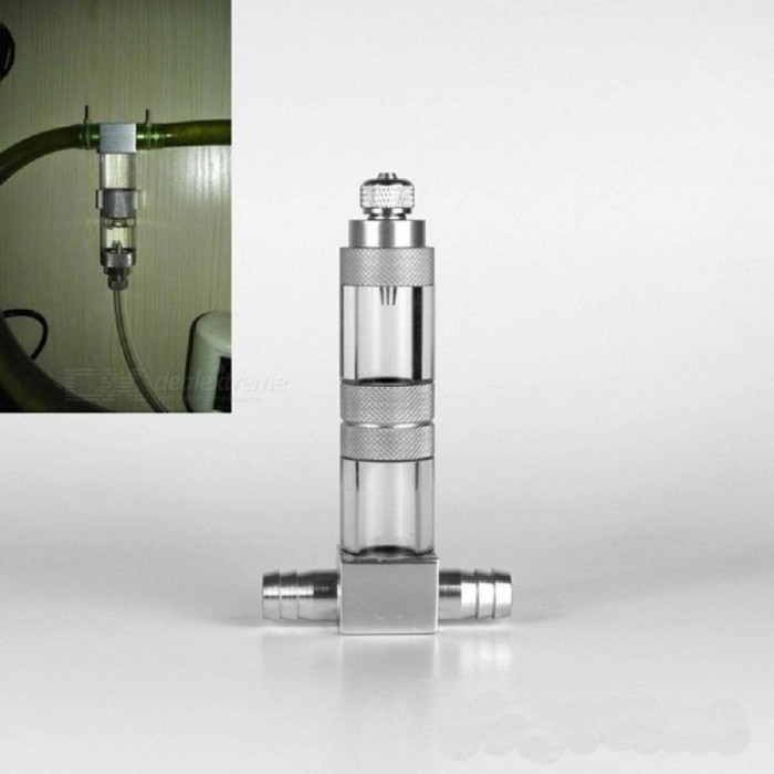 CO2 Diffuser Atomizer 4 In 1 External Aquarium Check Valve Bubble Counter Replace Ceramic With Silver Color