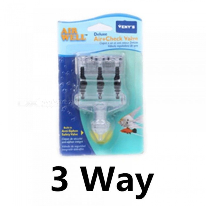 Aquarium Air Valve Multi-Outlet With Switch Regulator And Check ...