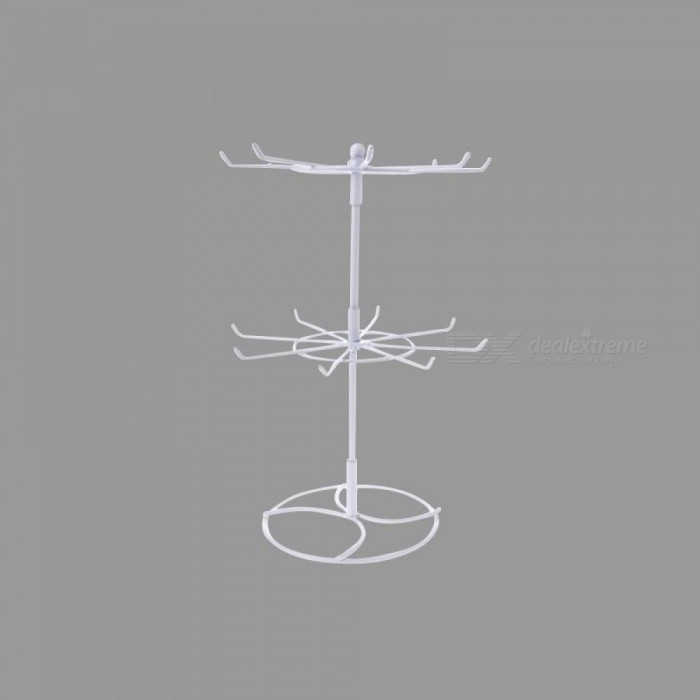 Multifunctional Metal Necklace Chain Bracelet Rotation Holder Jewelry Display Stand Rack Hanger Multi Colors For Option