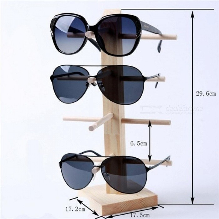 Multi Layers Wood Sunglass Display Rack Shelf Eyeglasses Show Stand Jewelry Holder for Multi Pairs Glasses Showcase