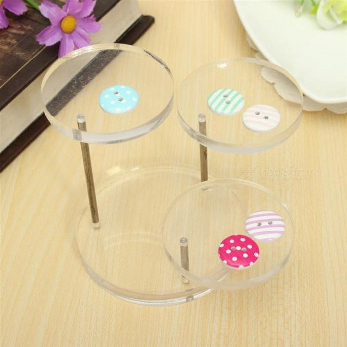 Jewelry Watch Display Boxes Holder Rack Box Clear Acrylic Jewelry Organizer 3 Tray Stands for Earring Bracelet Necklace