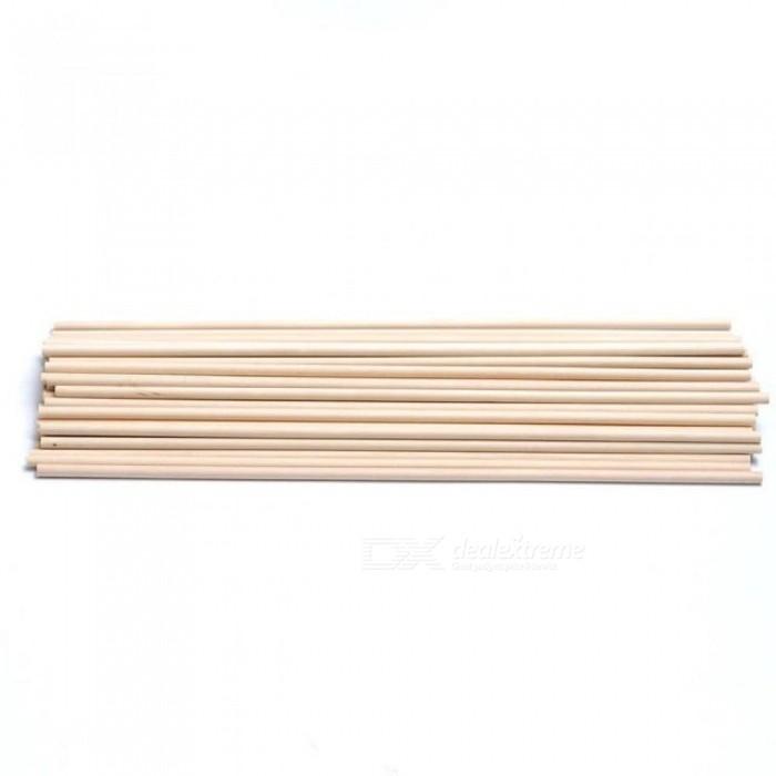 Wooden Round Popsicle Stick Kids Hand Crafts Art Ice Cream Lolly Cake DIY Making Funny 30CM For Length