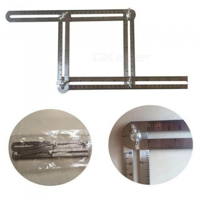 Stainless Steel Material Multi-Angle Ruler Tool Measures Easy to Use All Angles Forms Rulers Size For 31*5*2CM