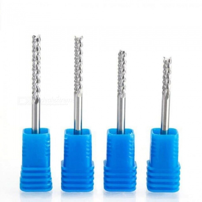 1 Pcs 3.175mm 4mm 6mm Carbide Tungsten Corn Cutter Cutting PCB Milling Bits End Mill CNC Router Bits for Engraving Machine