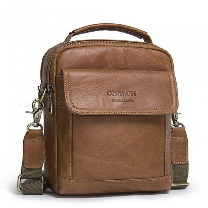 c82ed4aad Genuine Leather Shoulder Bags Fashion Men Messenger Bag Small iPad Male  Tote Vintage New Crossbody Bags