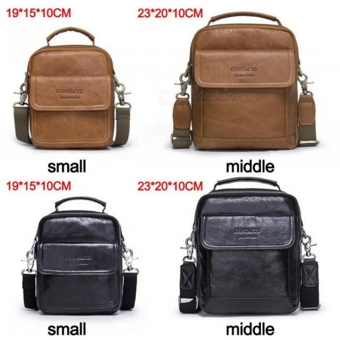 Genuine Leather Shoulder Bags Fashion Men Messenger Bag Small iPad Male Tote Vintage New Crossbody Bags Men's Handbags