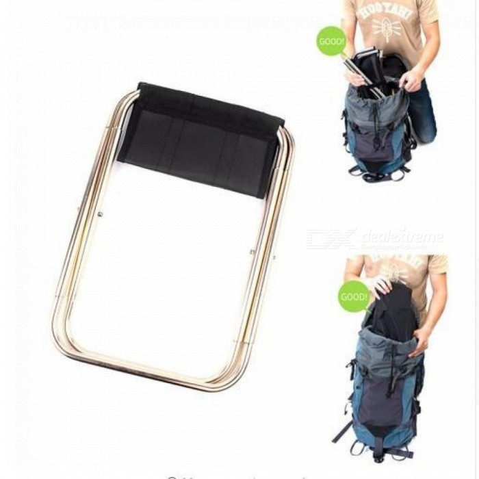 Lightweight Outdoor Fishing Chair Portable Folding Backpack Camping Oxford Cloth Foldable Picnic Fishing Chair with Bag