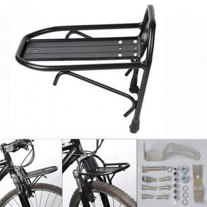Aluminum Alloy MTB Bike Bicycle Luggage Rack Front Rack Bicycle Carrier Panniers Bag Shelf Cycling Bike Accessories