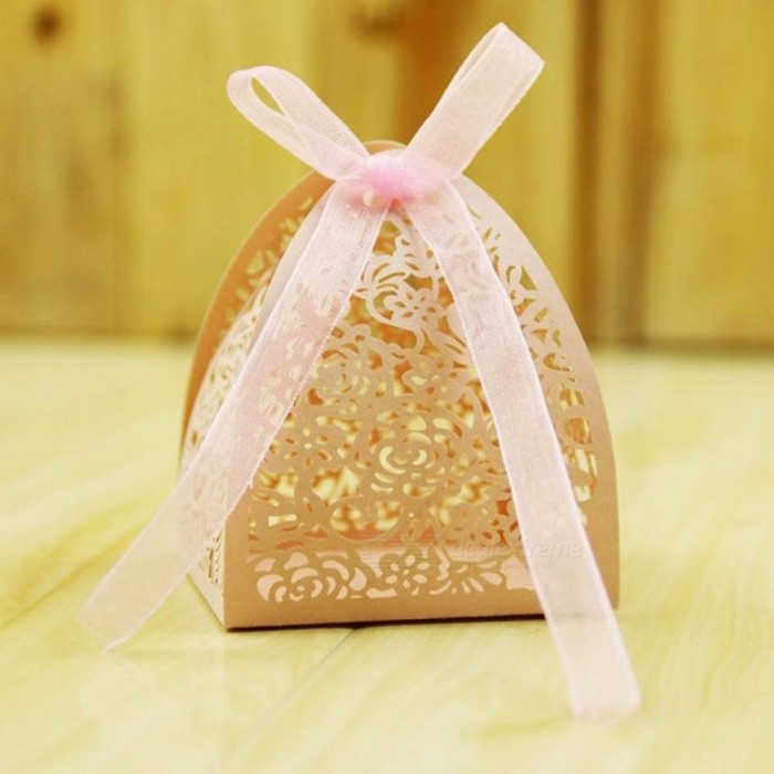 Lace Flower Design Laser Cutting Wedding Candy Box Wedding Gift Box For Guests Wedding Favors And Gifts Party Decorations 50pcs