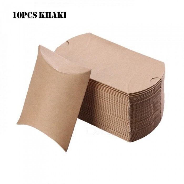 Colorful Kraft Paper Candy Box Gift Bag Wedding Gift Baby Shower Favors Birthday Party Christmas Supplies 10pcs/Set