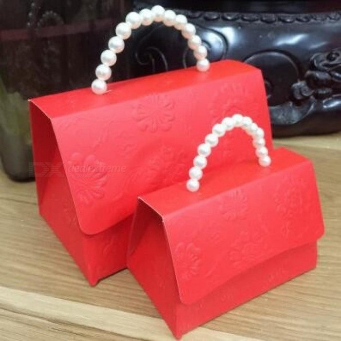 Portable Party Wedding Favor Candy Boxes Baby Shower Gift Bag DIY Creative Candy Box Romantic Marriage 10PCS/Lot