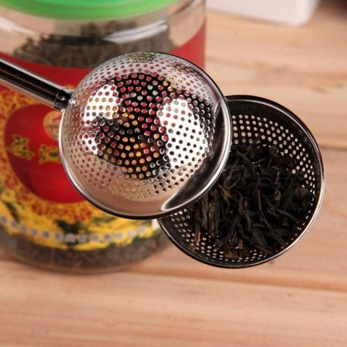 Push Style Mesh Loose Tea Ball Diameter High Quality Convenient Infuser Stainless Steel Spice Herbal Tea Leaf Strainer