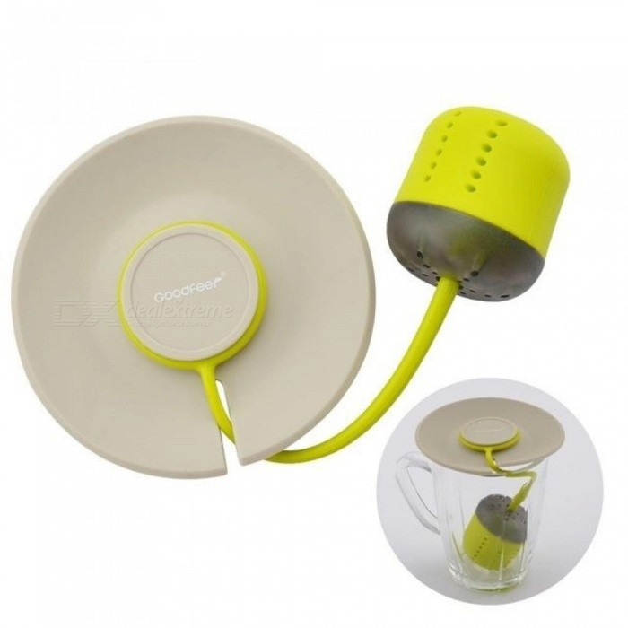 Silicone Tea Infuser Loose Leaf Strainer With Lid Herbal Filter Tea Ball Infuser For Drinking Coffee Tea Accessories
