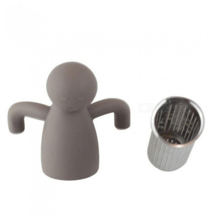 Stainless Steel Human Shape Tea Infuser Black Tea Strainer FDA Approved Loose Leaf Herbal Filter Brewing Tools