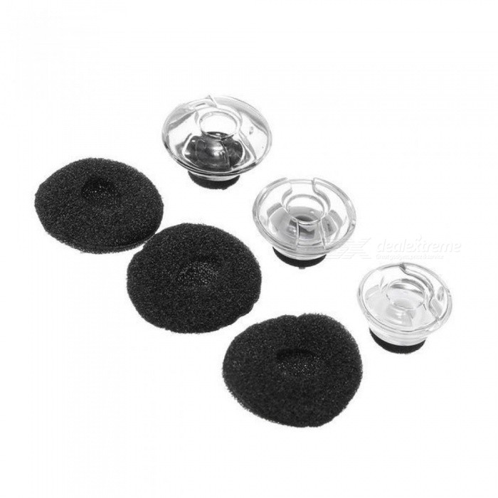 Clear Earbuds Tips Eargels Black Foam For Plantronics For Voyager For LEGEND Earphone and Headphones Accessories S/M/L