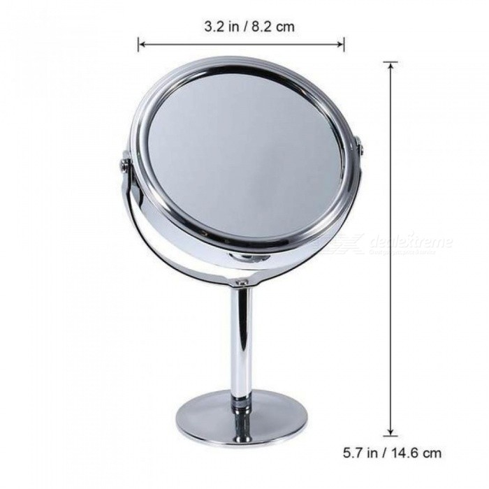 New Double Sided Magnifying Makeup Table Mirror Round Rotary Desk Mirror Magnifying Function Glass Cosmetic Mirror Tools