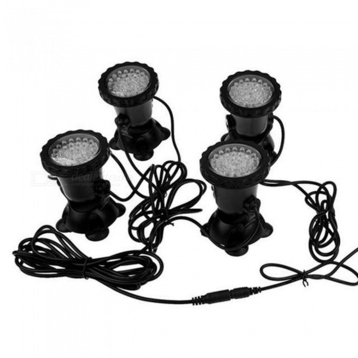 4 Submersible Led Rgb Pond Spot Light For Underwater Pool Fountain