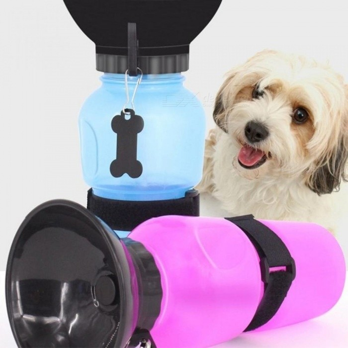 500ML Creative Portable Pet Dog Water Bottle Travel Puppy Cat Drinking Bowl Outdoor Outside Pet Water Squeeze Dispenser Feeder