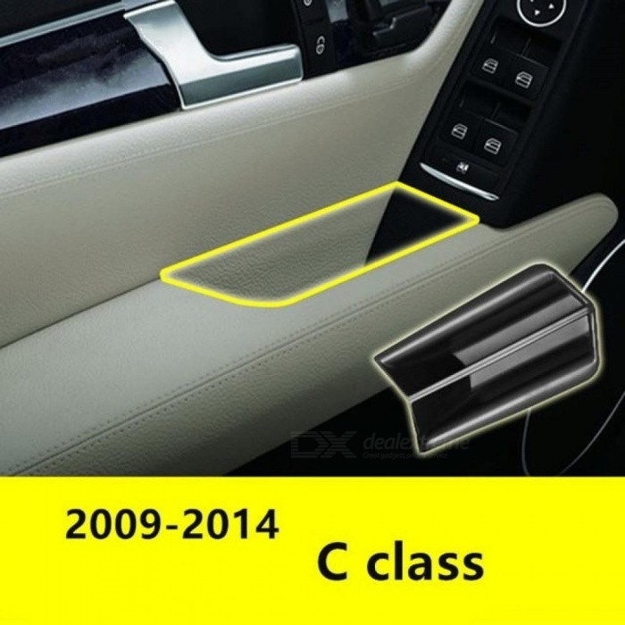 Front Door Handle Storage Box For Mercedes Benz C class W204 2008-2014 Container Holder Tray Car Organizer Accessories