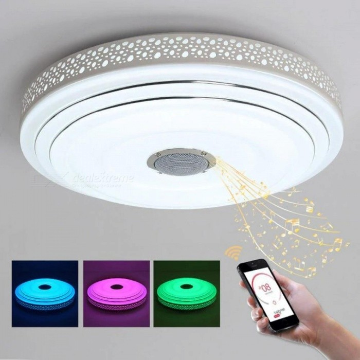 Music lamp modern led chandelier lustres with bluetooth control music lamp modern led chandelier lustres with bluetooth control color changing ceiling chandeliers lighting fixture aloadofball Choice Image