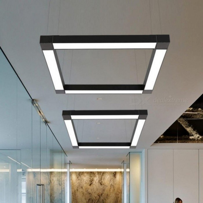 LED Modern Ceiling Light Lamp Dimmable Surface Mount Flush Panel Rectangle  Lighting Fixture Bedroom Living Room