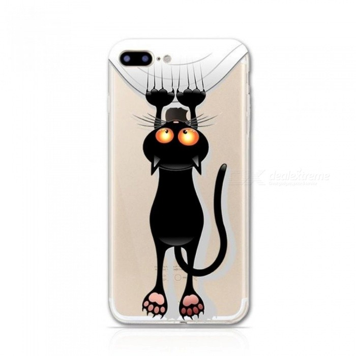 Halloween Black Cat Pattern Phone Cases for iPhone 5s 5 Case for iPhone 6 6s 6Plus Soft TPU Phone Case for iPhone 7 8 Plus Cover