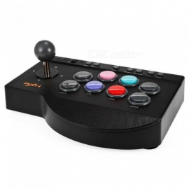 PXN 0082 Arcade Joystick Game Controller Wired Gamepad for PC/PS3/PS4/Xbox one TURBO and MACRO function Support Switch Black