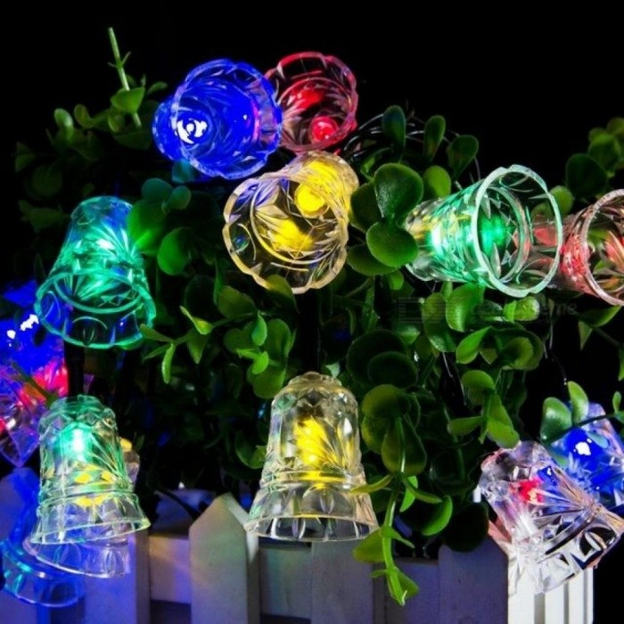 led bell garland solar fairy string lights solar outside christmas lights outdoor for christmas party decoration