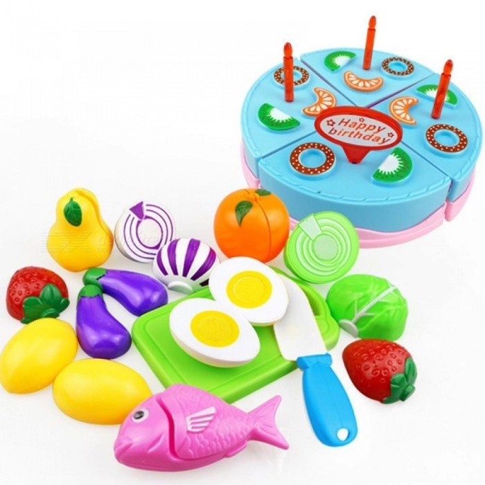 0b343277b709e Children Kitchen Pretend Play Toys Cutting Fruit Vegetable Food Miniature  Play Do House Education Toy Gift