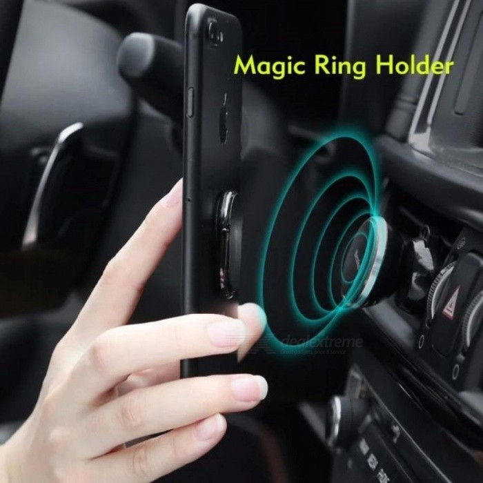 Cell Phone Finger Ring Grip Stand Holder For iPhone X 8 7 6 6s Plus SE Samsung Galaxy S7 Edge Work with Magnetic Car Mount