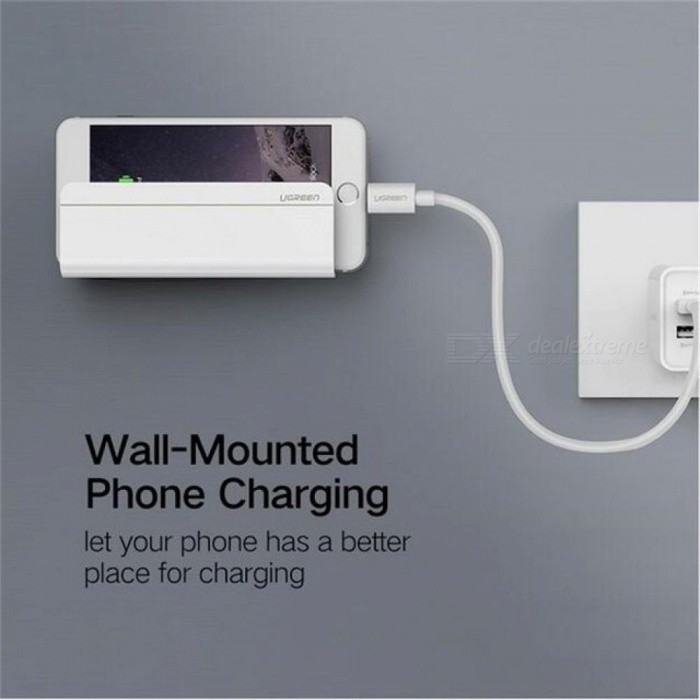 uk availability 62d15 f5e0f Ugreen Universal Wall Mount Holder Phone Tablet Charging Stand For iPad  iPhone X 8 7 Plus Samsung Xiaomi Charger Socket Home 6s White