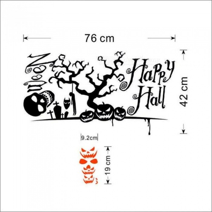 Halloween Home Decoration Fashion Wall Stickers DIY Removable Vinyl Wall Sticker For Home Decor Wall Art