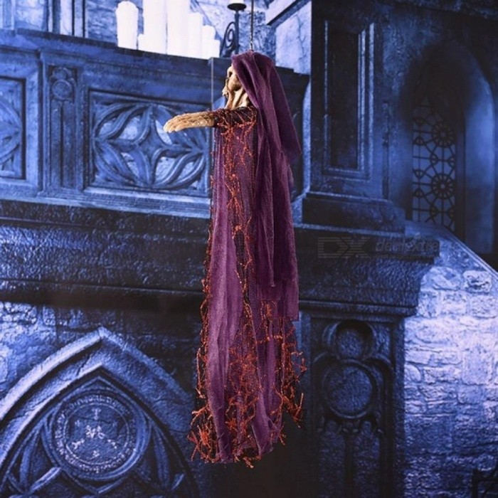 Scary Voice Control Make a Horrible Cry Electric Hanging Skeleton Haunted Witch Ghost Halloween Party Prop Decoration