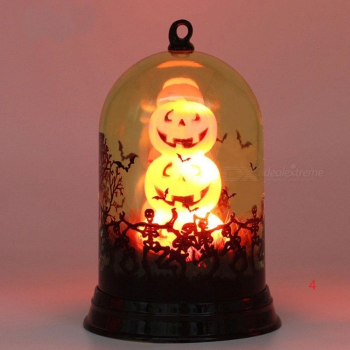Flame Light Lantern Horrible LED Plastic Halloween Decor Atmosphere Gift With Multi Style For Options