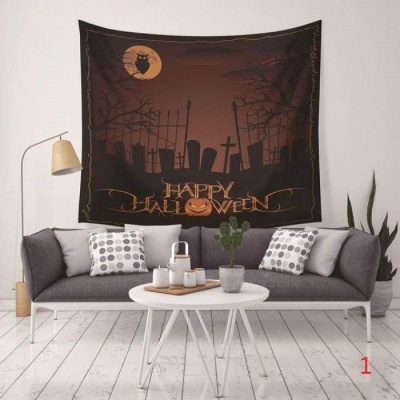 Halloween Printed Tapestry Blanket Hanging Pendant Home Festival Decoration With Multi Style For Option 130X150CM  6
