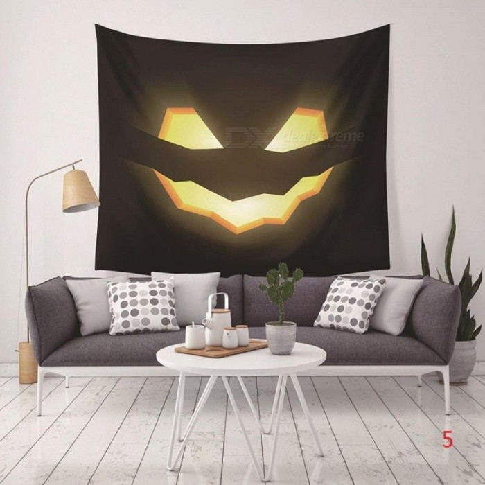 Halloween Printed Tapestry Blanket Hanging Pendant Home Festival Decoration With Multi Style For Option 130X150CM